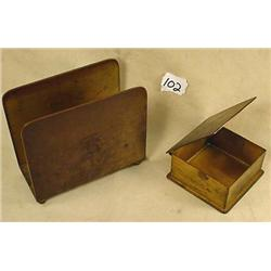 1930'S BRONZE BRADLEY AND HUBBARD STAMP BOX LETTER