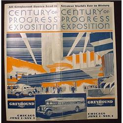 1933 GREYHOUND CENTURY OF PROGRESS CHICAGO EXPO BR