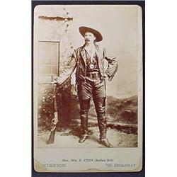 C. 1880'S BUFFALO BILL CABINET CARD PHOTO