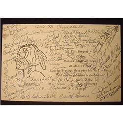1933 MOHAWK BASEBALL TEAM AUTOGRAPHED CARD - Signe