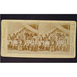 RARE 1881 ALBUMEN STEREOVIEW CARD - SIOUX INDIAN C