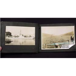 ANTIQUE PHOTO ALBUM W/ PHOTOS OF SHIPS AND TRIP TO