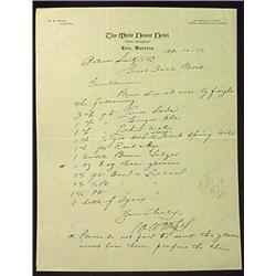 "1917 THE WHITE HOUSE HOTEL ""RACIST"" LETTERHEAD - B"