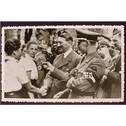 WW2 NAZI GERMAN ADOLF HITLER PHOTO - HITLER GREETI