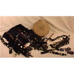 3 VINTAGE GYPSY VESTS INCL. CLICKERS AND TAMBORINE