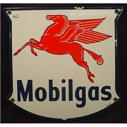 1940'S MOBILGAS PEGASUS PORCELAIN ADVERTISING SIGN