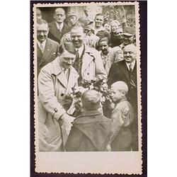WW2 NAZI GERMAN ADOLF HITLER PHOTO - HITLER RECEIV