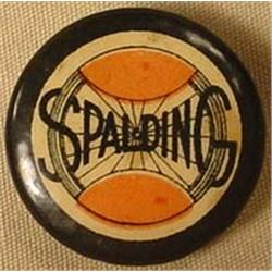 ANTIQUE CELLULOID LAPEL BUTTON SPALDING BICYCLE