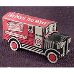 VINTAGE CRACKER JACK TRUCK TIN PREMIUM TOY