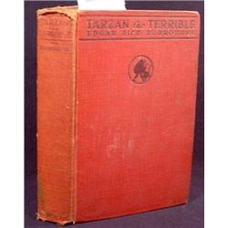 "1921 ""TARZAN THE TERRIBLE"" HARDCOVER BOOK BY EDGAR"