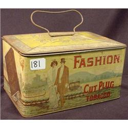 VINTAGE FASHION CUT PLUG TOBACCO TIN