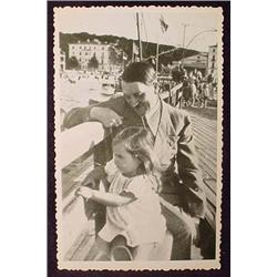 WW2 NAZI GERMAN ADOLF HITLER PHOTO - HITLER WITH C