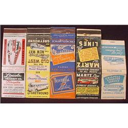 LOT OF VINTAGE BUS LINES MATCHBOOK AND MATCH COVER
