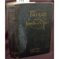 """1918 """"TARZAN AND THE JEWELS OF OPAR"""" HARDCOVER BOO"""