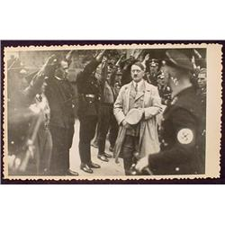 WW2 NAZI GERMAN ADOLF HITLER PHOTO - SOLDIERS SALU