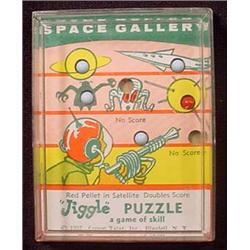 1957 SPACE GALLEY PLASTIC MARBLE DEXTERITY GAME OF