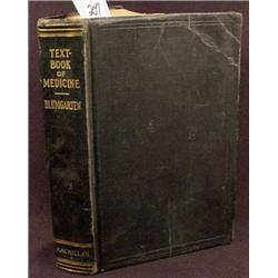 "1931 ""TEXT BOOK OF MEDICINE"" HARDCOVER BOOK - Has"