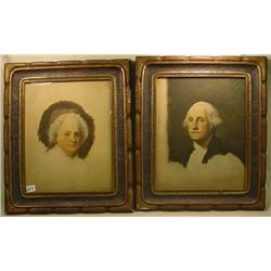 PAIR OF PRINTS - MARTHA AND GEORGE WASHINGTON - FR