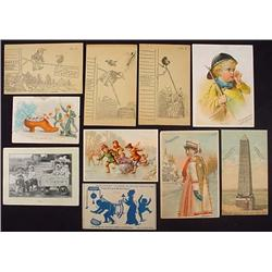 LOT OF 10 VICTORIAN TRADE CARDS - Incl. McLaughlin