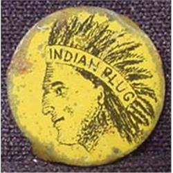 VINTAGE INDIAN PLUG TOBACCO ADVERTISING TAG