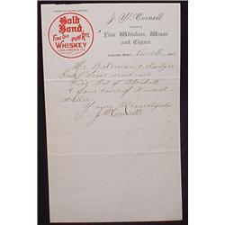 1901 JW CORNELL FINE WHISKIES, WINES, AND CIGARS L