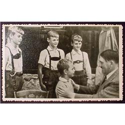 WW2 NAZI GERMAN ADOLF HITLER PHOTO - HITLER W/ CHI
