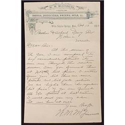 1893 WM MCGINNESS DRUGS, MEDICINES, PAINTS, OILS B