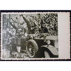 WW2 NAZI GERMAN ADOLF HITLER PHOTO - HITLER SALUTI