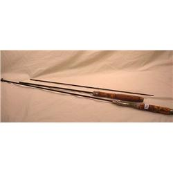 LOT OF 2 VINTAGE FISHING POLES - Incl. Luckie Tele