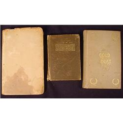LOT OF 3 SMALL ANTIQUE BOOKS - Incl. 1894 Gold Dus