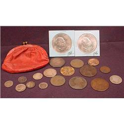 LOT OF MISCELLANEOUS TREASURES - INCL. COINS - Inc