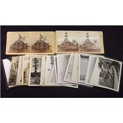LOT OF 18 OREGON RPPC PHOTO POSTCARDS AND 2 STEREO