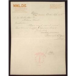 1895 MONTANA MINERAL LAND DEVELOPMENT CO. LETTERHE
