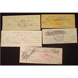 LOT OF 5 LATE 1800'S - EARLY 1900'S MONTANA BANK C