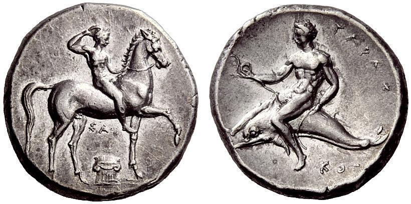 Calabria, Tarentum, Didrachm ca. 425-415 BC - The NumisPlace