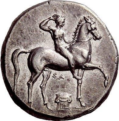 Calabria, Tarentum AR (Silver) Didrachm   Greek Coins
