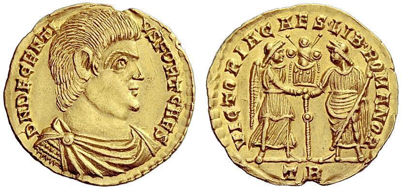 Roman Emp., Decentius, Solidus...