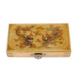 Vintage Chinese Abacus in Leather Covered Box  (CLB-321)