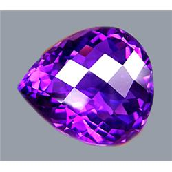 40.68ct RARE  Gorgeous Pear African AAA Purple Amethyst  FLAWLESS RETAIL $6500 (GEM-8404)