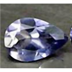 6mm Pretty Natural Violet Blue Iolite Pear VVS RETAIL $450 (GMR-0184)