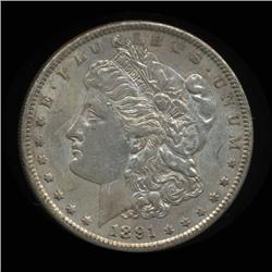 1891S Morgan Dollar High Grade SCARCE Date (COI-4101)
