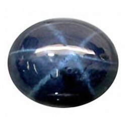 3.4ct RARE 9X7mm 6 Rays Blue Star Sapphire RETAIL $1650 (GEM-4957B)