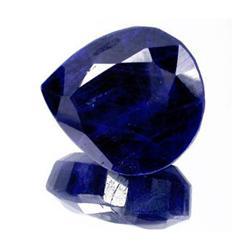 24.44ct. Rich Royal Blue African Sapphire Pear Cut RETAIL $1710 (GMR-0070)