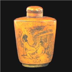 Kamasutra Chinese Bone Snuff Bottle  (CLB-530)