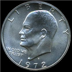 1972S Silver IKE Dollar Coin Uncirculated (COI-1045)