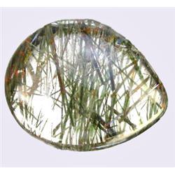 10.39ct RARE Needles Green Natural Rutilated Quartz RETAIL $1150 (GEM-8220)
