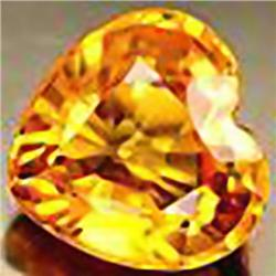 4mm RARE Yellow Sapphire Songea Heart VVS RETAIL $350 (GEM-4592R)