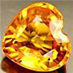 4mm RARE Yellow Orange Sapphire Songea Heart VVS RETAIL $350 (GEM-4591R)