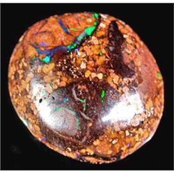 2.98ct RARE Playing Of Flashy Green Yowah Boulder Opal RETAIL $1900 (GEM-4940)