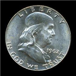 1962D FBL Uncirculated Franklin Half Coin (COI-931)